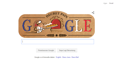 Google Doodle Memperingati 22 Tahun Roti Baguette
