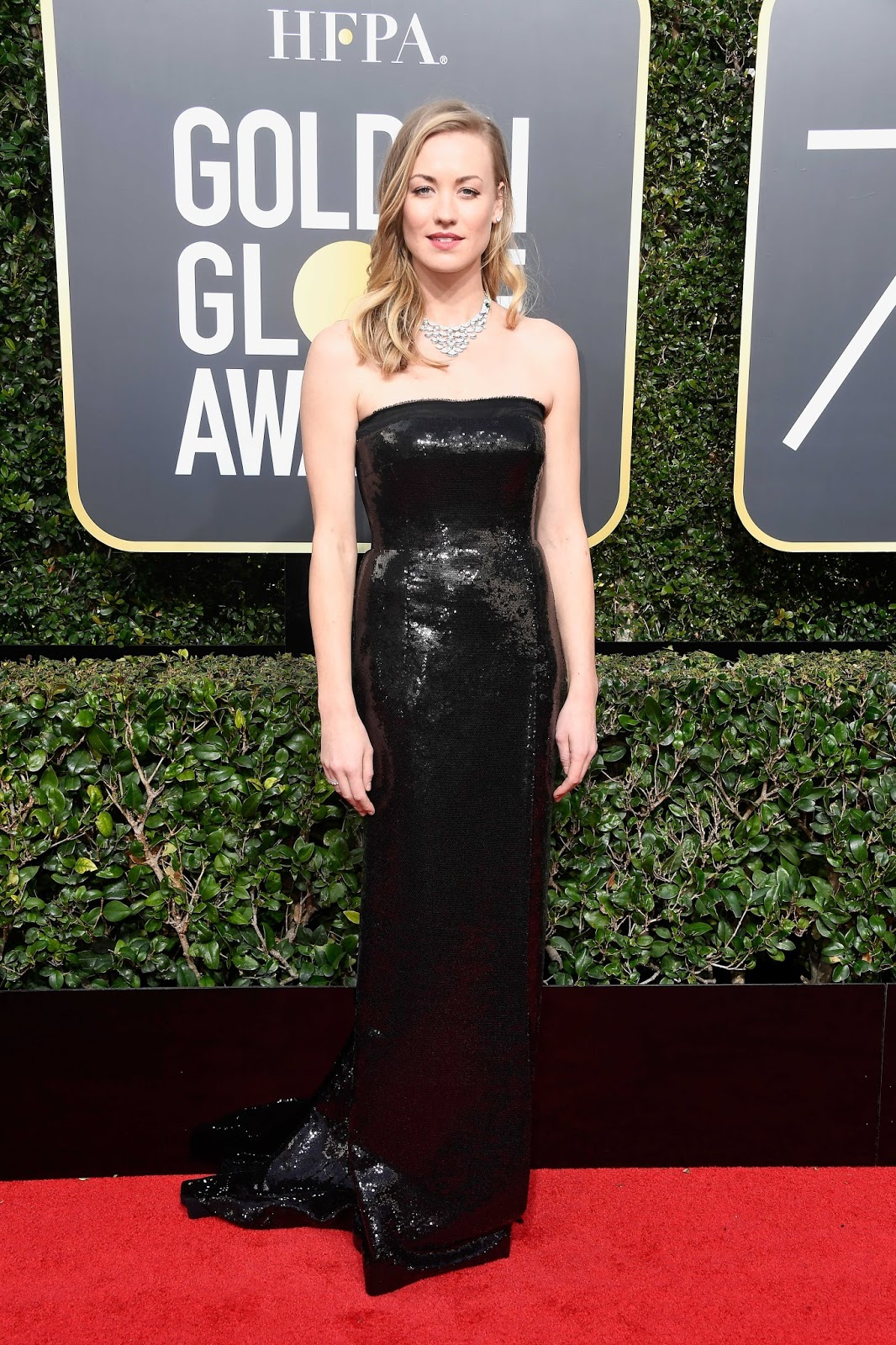 Yvonne Strahovski at Golden Globe Awards 2018