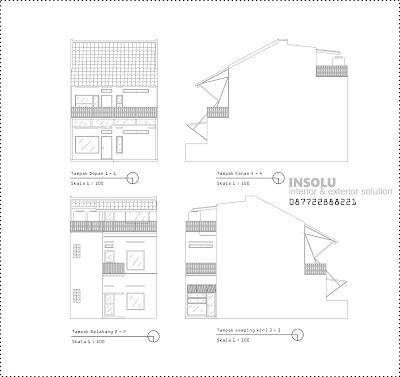 Gambar Tampak Rumah Dengan Luas 232 5m Lanjutan Dari Denah Rumah Minimalis Modern 232 5m Supermarket Rumah