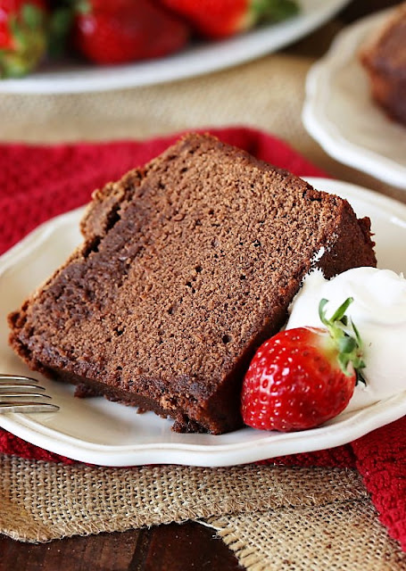 Slice of Chocolate Pound Cake Image