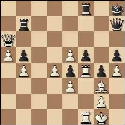 Partida de ajedrez Teresita Pérez vs. Amparo Galindo, posición después de 31…Tb7
