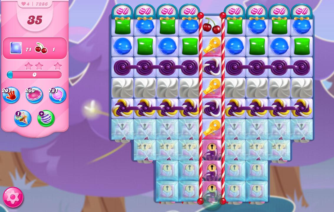 Candy Crush Saga level 7286