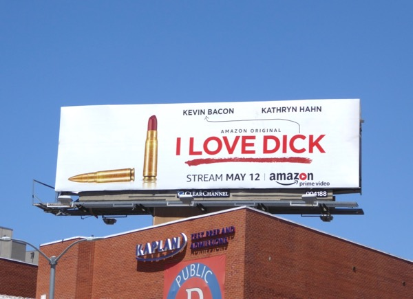 I Love Dick bullet lipstick billboard