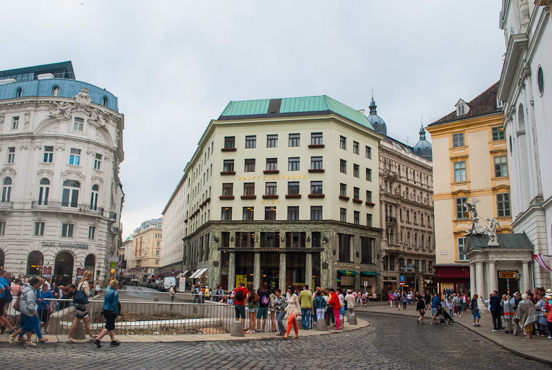 Architecture near the hofburg and main shopping area of Vienna, Austria