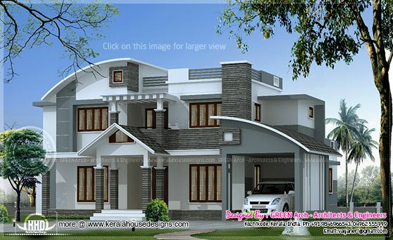 2700 sq-ft Villa elevation
