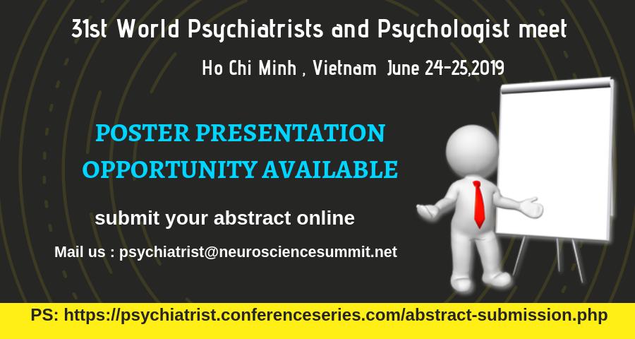 31st world psychiatrists and psychologists meet poster presentation