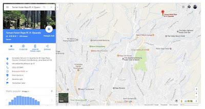 Peta Menuju Curug Omas di kawasan Wisata Dago Pakar