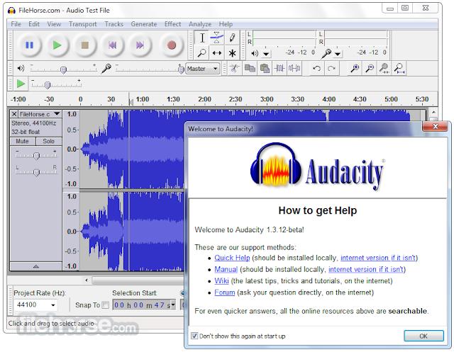 تحميل برنامج اوداسيتي مسجل الصوت Download Audacity 2020 للكمبيوتر برابط مباشر - موقع حملها