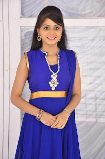 Actress Harisha Krishna Stills in Beautiful Blue Chudiddar  0013.jpg