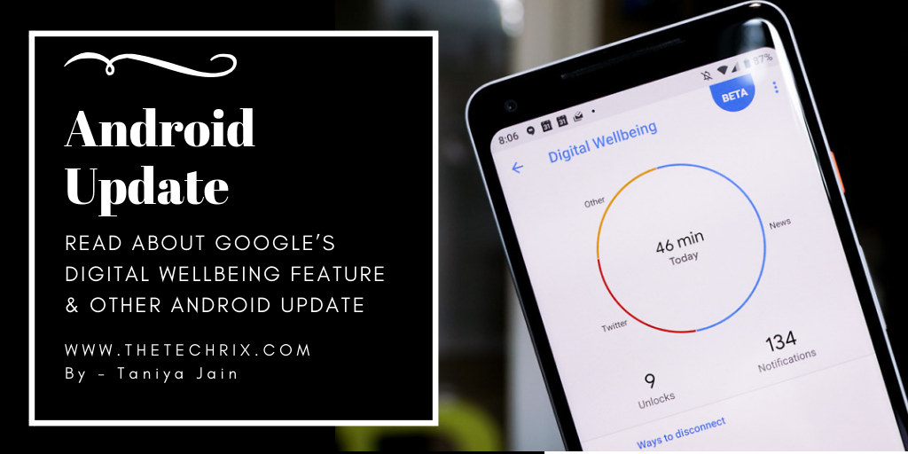 Read about Google's Digital Wellbeing Feature & Other Android Update