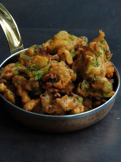 Broccoli & Onion Pakoras