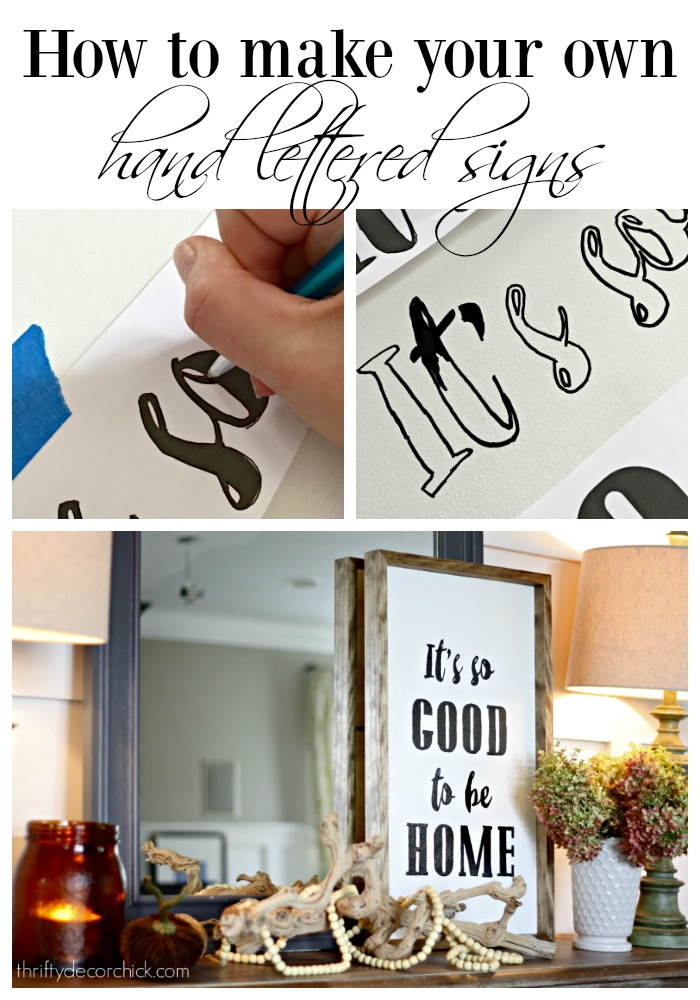 How to make hand lettered signs