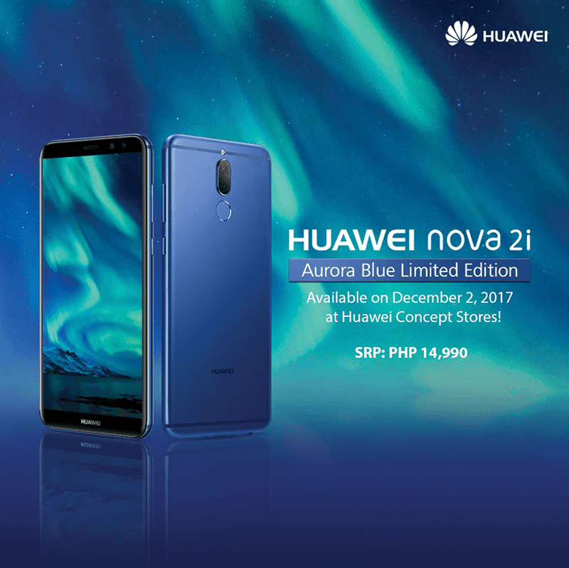 Huawei Nova 2i Aurora Blue Limited Edition will be available in the Philippines this December 2!