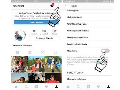 Cara Mengunci Akun Instagram Agar Menjadi Mode Private