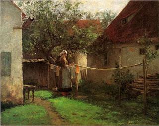 Джон Оттис Адамс John Ottis Adams День стирки 1885 Wash Day, Bavaria