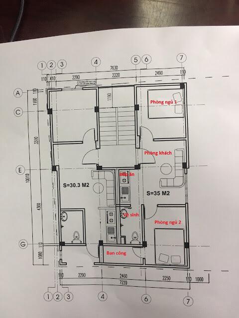 Căn hộ 35m2 thiết kế 2 phòng ngủ, vay Ngân hàng, Full nội thất