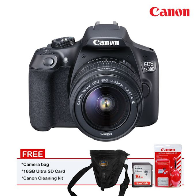Canon 1300D with 18-55mm stm lens
