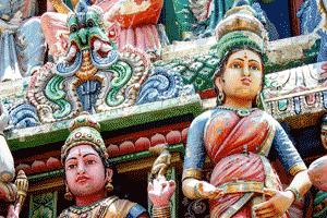 Imágenes de un templo hindú