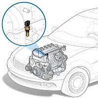 Bir müşiri ve motor üzerindeki yerini gösteren çizim