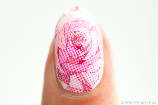 Born Pretty rose nail wraps swatch + review