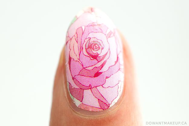 Born Pretty rose nail wraps swatch + review