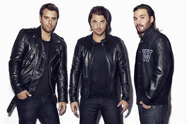 瑞典浩室黑手黨3人穿著黑衣合照