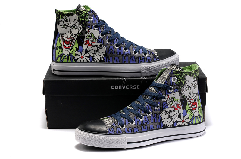 70aaefd42d5f dc comic converse joker sneaker. Joker converse chuck taylor all star shoes