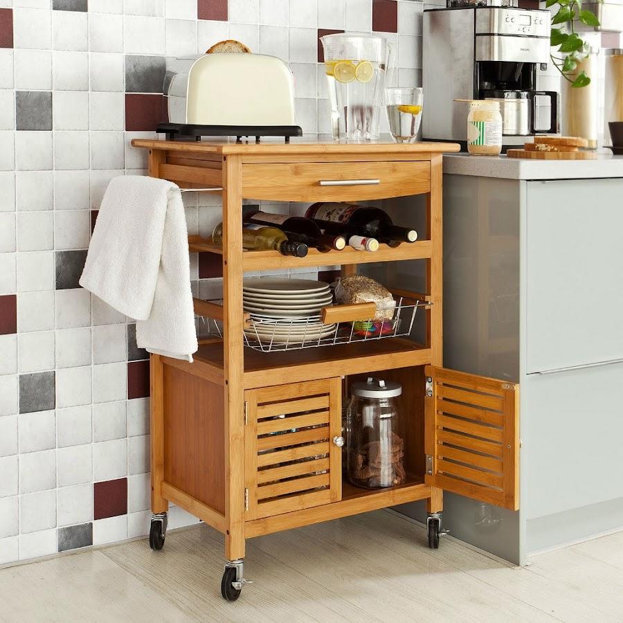 Carrito auxiliar para mantener la cocina ordenada