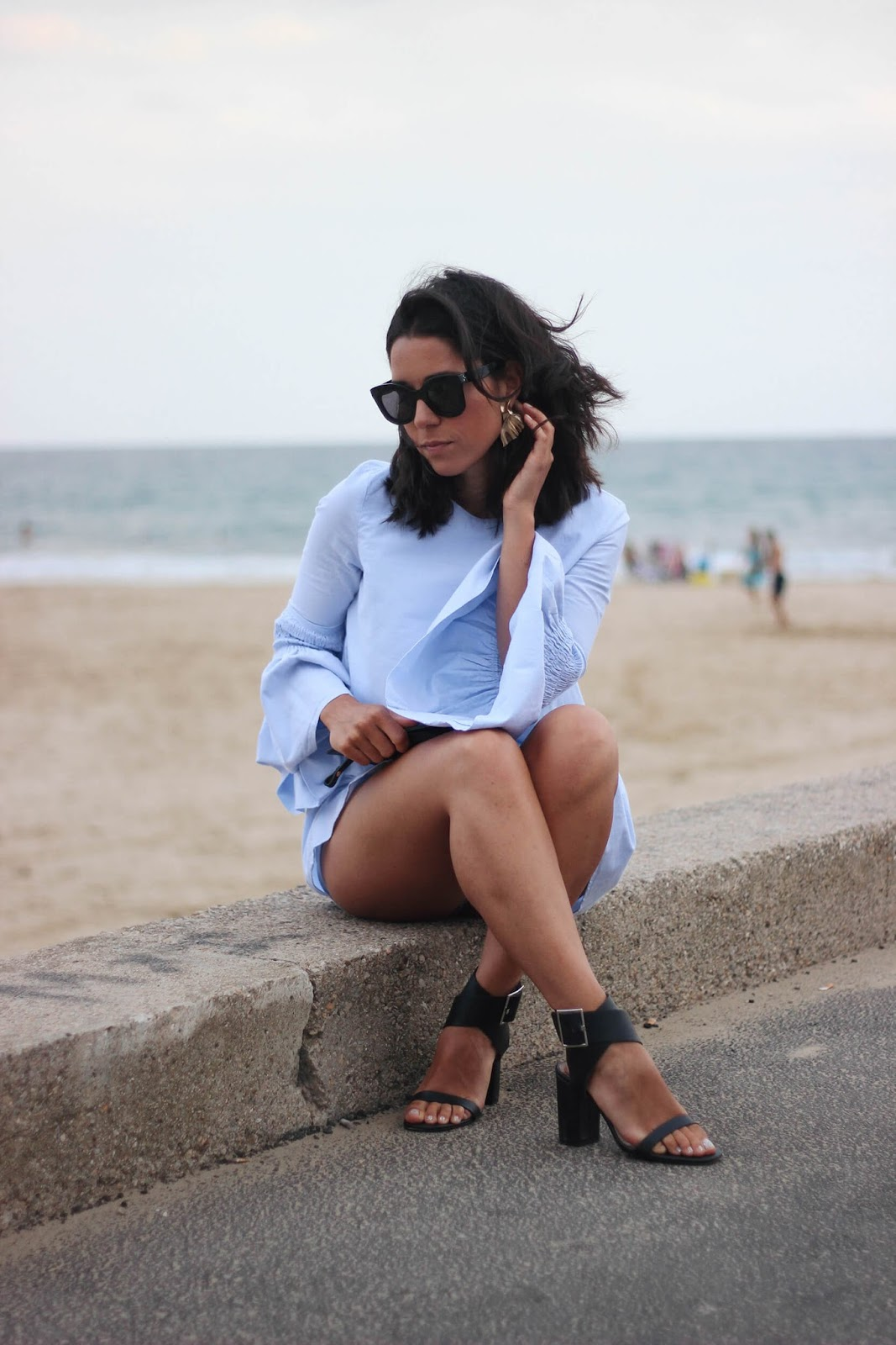 ZARA FLARED SLEEVES DRESS, CELINE SUNGLASSES