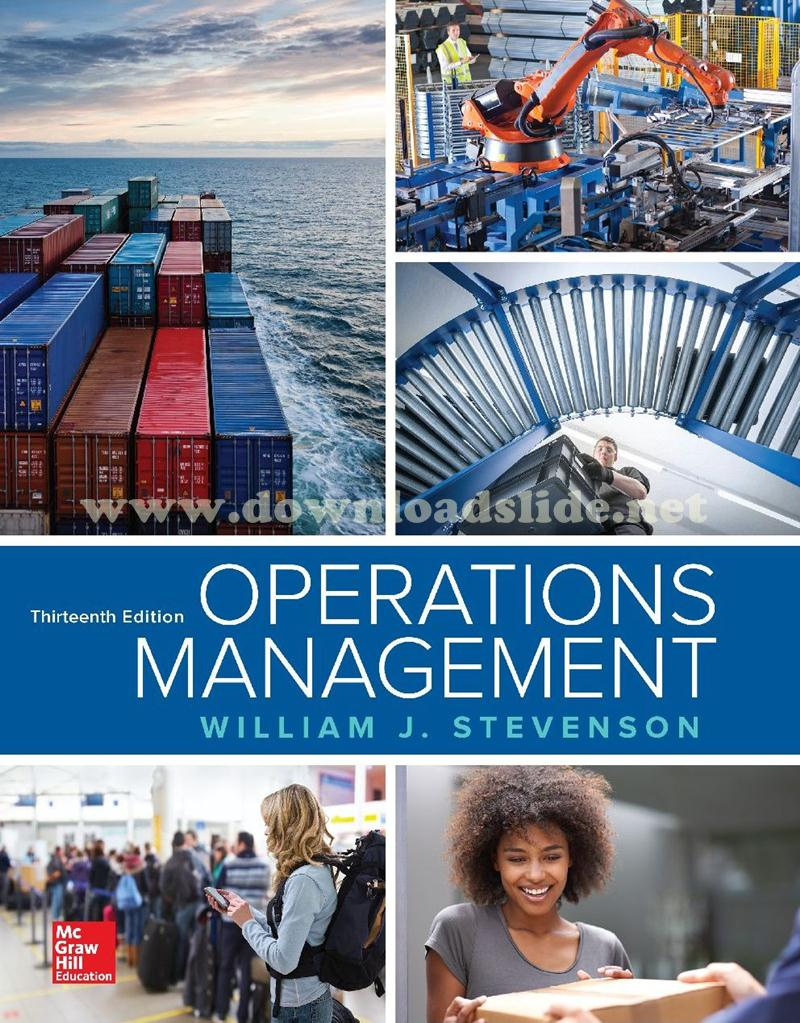 Ebook Operations Management 13th Edition by Stevenson