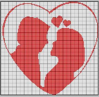 Dia dos Namorados Especial Em Ponto Cruz Com Gráficos68