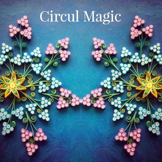 Quilling kaleidoscope cu muscari zambilute Circul Magic