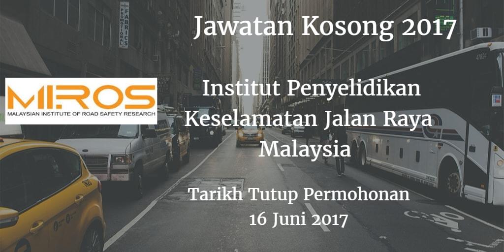 Jawatan Kosong MIROS 16 Juni 2017