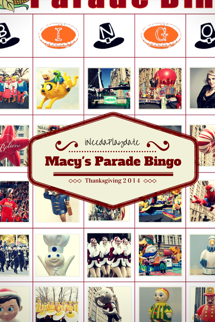 Macy's Thanksgiving Parade and Free Bingo Printables