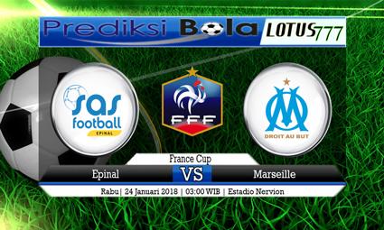 PREDIKSI SKOR Epinal vs Marseille 24 Januari 2018