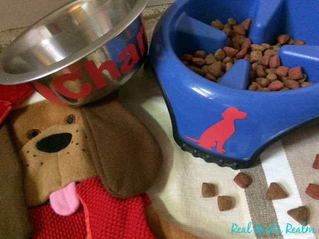 Personalize your pet's bowl, using vinyl and your Cricut!