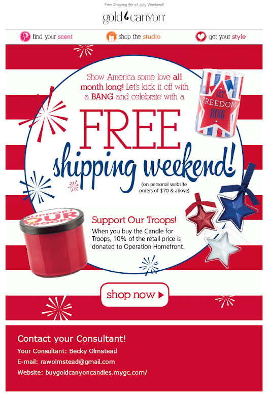 July 4th - Free Shipping Weekend!!!!
