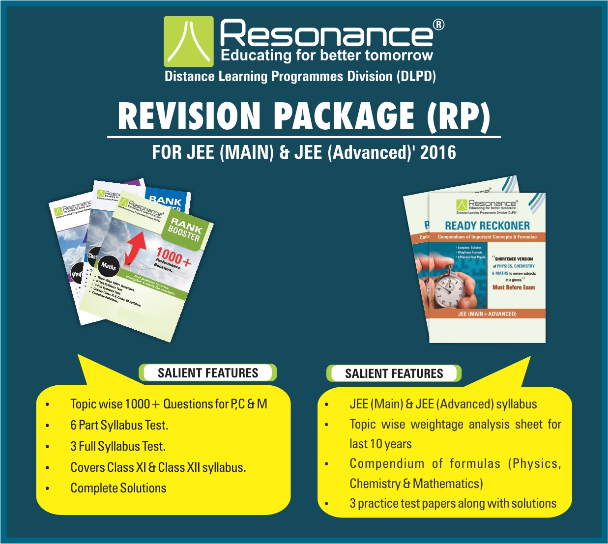 Resonance test series jee advanced
