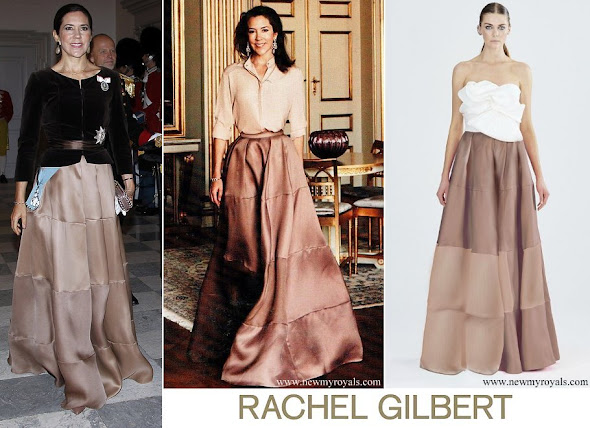 Crown Princess Mary wore Rachel Gilbert Ball Skirt