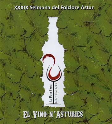 Cartel de la semana dedicada al vino asturiano de el Ventolín