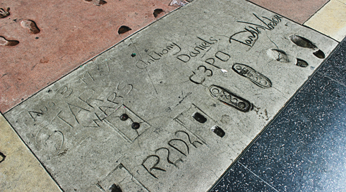 star wars chinese theatre handprints footprints hollywood