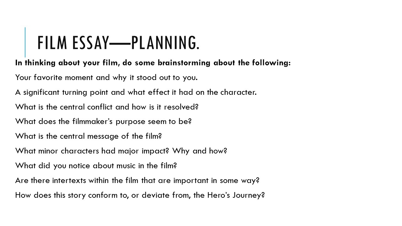 English essay planning