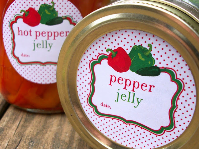 pepper jelly canning label