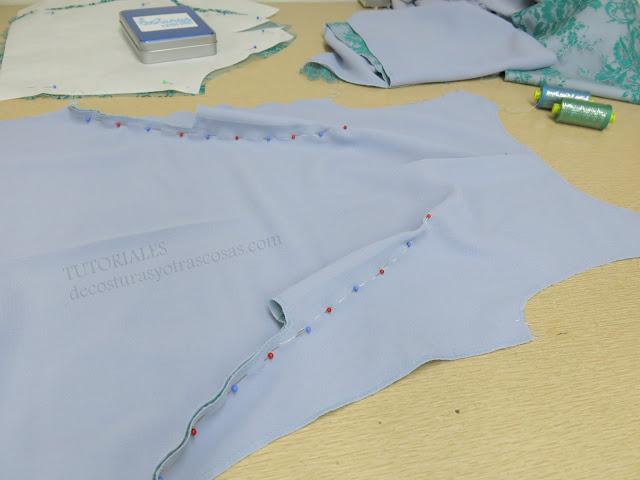 como coser pinzas que parten de la cadera hasta el pecho