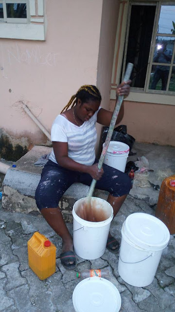 Image result for Photos: Meet This Female DELSU Graduate Who Produces Paints For A Living