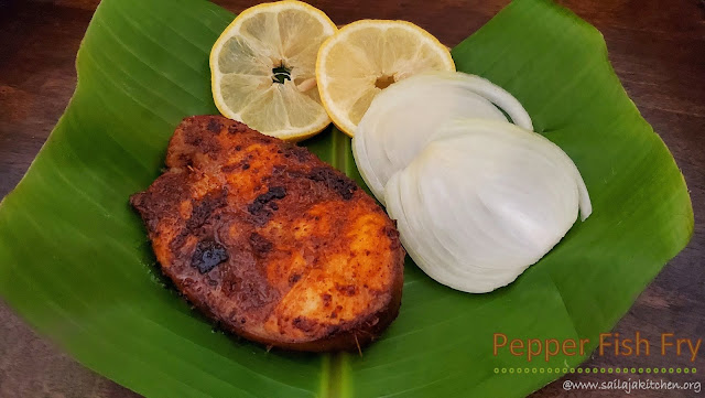 images of Pepper Fish Fry /  Milagu Meen Varuval / Fish Pepper Fry/ Fish Fry