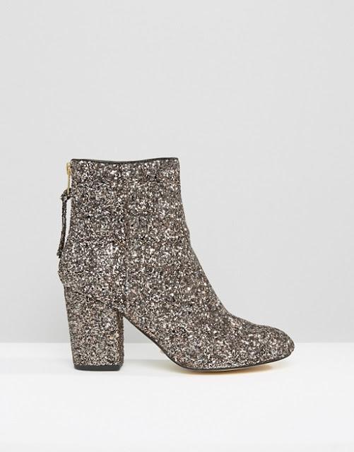 River Island Glitter Heeled Boots