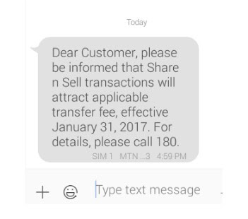 MTN Share and sell fee, will MTN start charging money for share n sell?
