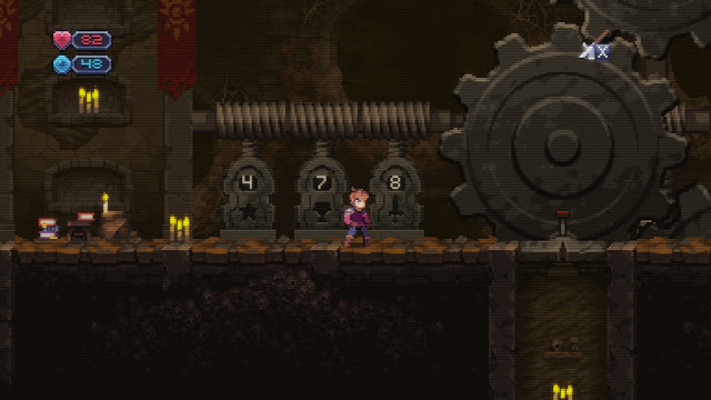 Chasm - the infamous 3 numbers code puzzle, in the catacombs!