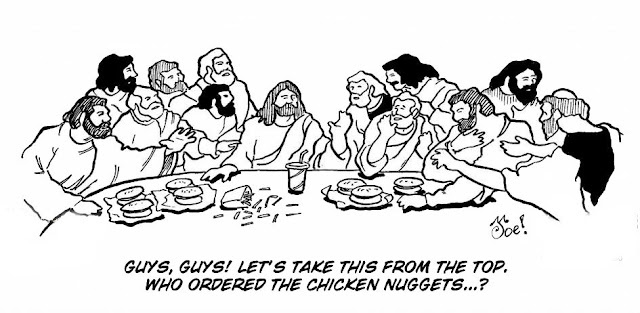 Funny Jesus Last Supper Happy Meal Cartoon
